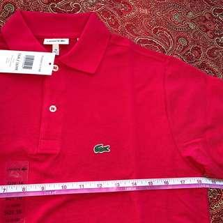 B NEW AUTH LACOSTE POLO SHIRT