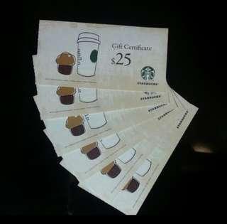 Starbucks Coupons 換同值百佳、惠康、萬寧、屈臣氏現金券$50/張