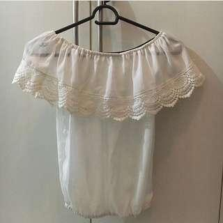 Offshoulders lace top