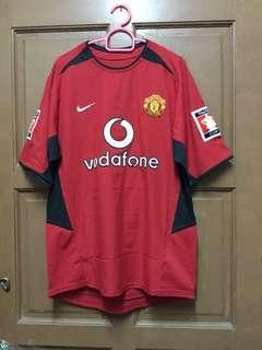 Original Manchester United 2002/2003 Home Kitt Jersey
