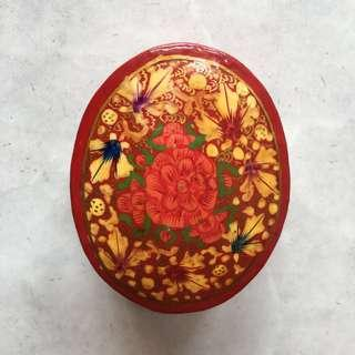 Beautiful Floral Hand Painted Jewellery/ Trinket Container