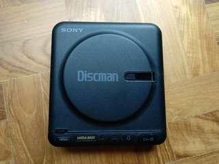 Vintage Sony Discman D-12 portable CD player