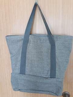Grey Denim Tote Bag