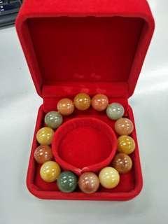 Natural 15mm Feng shui stone bracelet