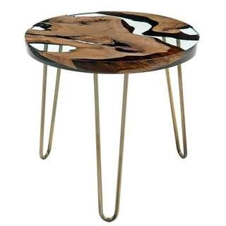 Solid Wood Epoxy Resin Coffee table