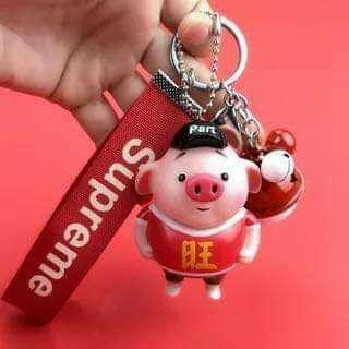 ONHAND! Cute Pig Key Chain Set (Imported, High Quality)
