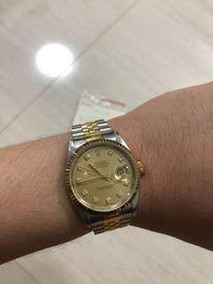 Rolex datejust 16233 with big diamonds