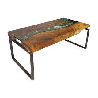 Customised Solid wood epoxy resin table / coffee table