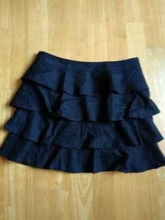 Black layered skirt