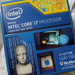 WTS CPU I7 - 4770K ( K = Overclockable ) 4Cores / 8 Threads