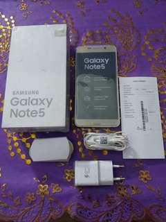 Dijual Samsung Note 5 Gold Rp 1700000 WA 081247217957