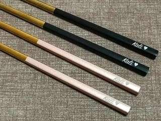 STAINLESS STEEL CHOPSTICKS &Customized carving!