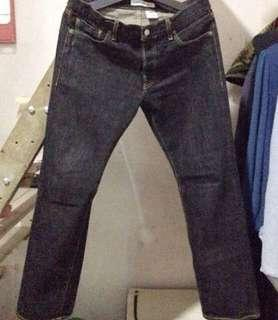 Uniqlo black Jeans Selvedge All Made In Japan