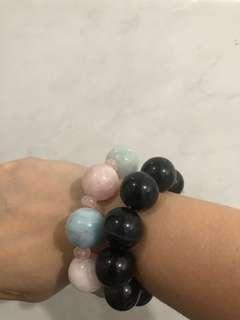 Chunky crystal charm bracelets sold separately