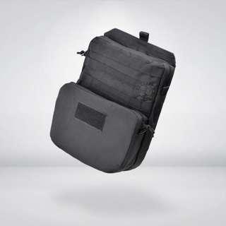 台南 武星級 MOLLE 背心 擴充 雙層包 黑 (槍盒 槍箱 槍袋 槍包 旅遊 露營 槍包 書包 背包 生存遊戲 軍事風 迷彩