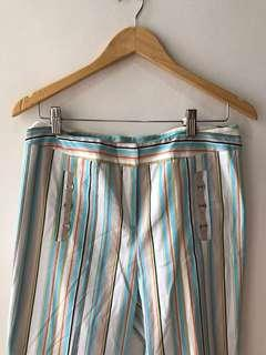 Excellent condition striped michael rene wide leg pants - 32inches when measured