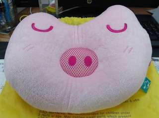 🚚 粉紅小豬午睡枕,可聽音樂