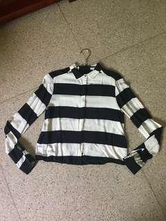 H&M stripes shirt / kemeja / atasan #onlinesale