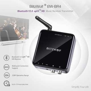 Chinese New Year Offer BlitzWolf BW-BR4 V5.0 Wireless Bluetooth Receiver aptX HD Music Receiver Transmitter Audio 2 in 1 Adapter Aux Receiver