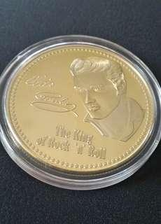 Elvis Gold Plated Coin