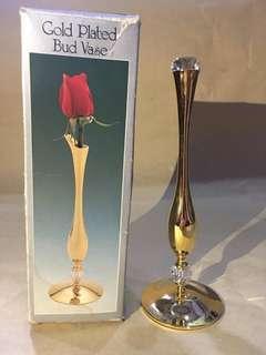 Vas Bunga Lapis Emas dengan Kristal Swarovski Strass