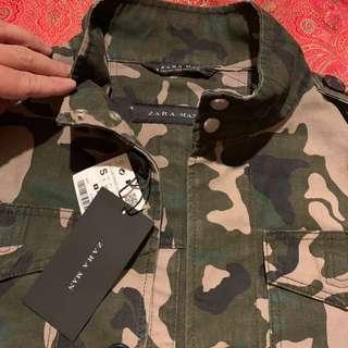 Auth b new Zara Man Camouflage Jacket Coat