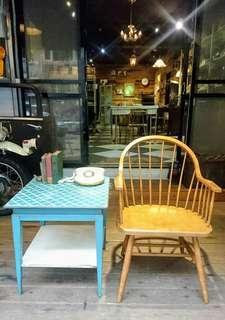 Vintage Americana。復古事 溫莎椅 木椅 加購藍色桌几可享特價