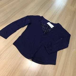 BNWT Promod blue blouse