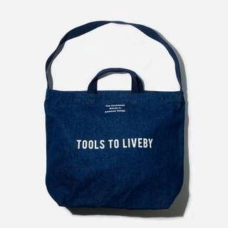 Tools to Liveby 丹寧牛仔 托特包