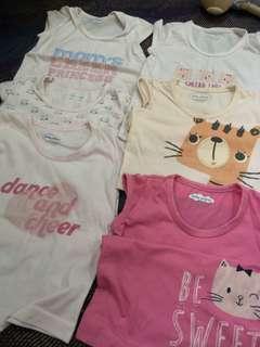 9pcs baby shirts