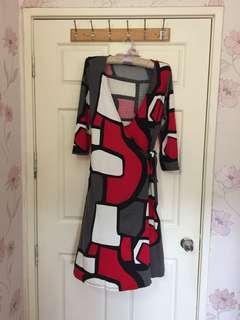 LAURA ASHLEY beautiful Wrap Dress Sz 🇬🇧 14