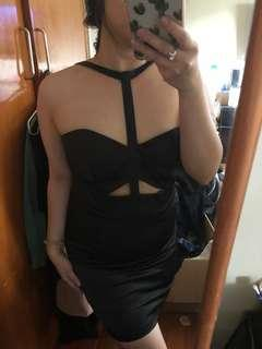 T Front Strap Bodycon Dress