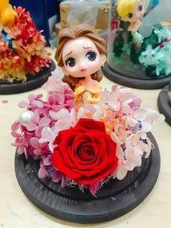 情人節禮物🌹【公主系列保鮮花玻璃罩】