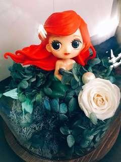 【情人節美人魚保鮮花玻璃罩】