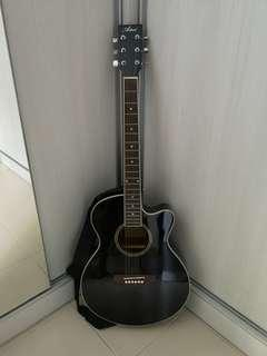 Artist Acoustic Guitar with Bag, Strap and Chromatic Tuner