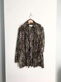 DANIEL RAINN sheer jacket top medium