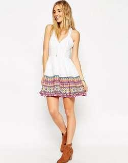 ASOS Aztec Embroidered Dress