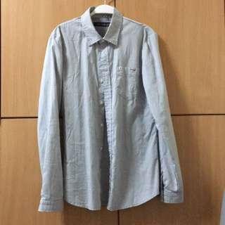 韓國襯衫 淺藍色