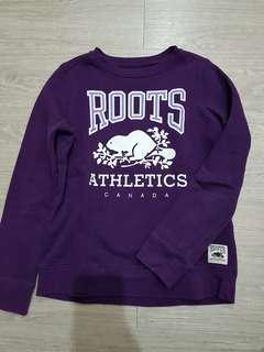 🚚 ROOTS 紫色刷毛上衣-140號(平常穿xs瘦瘦的女生也適合)
