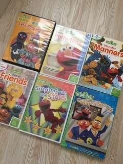 Elmo dvd 6隻 不散賣 $100