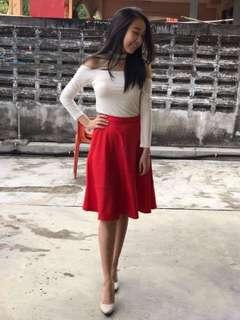 Red Skater Skirt #CNYRED #CNY888