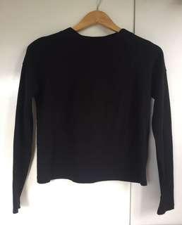 Uniqlo Black long sleeve top