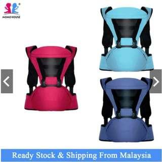 #CNY888 Baby Toddler Kids Ergonomic Breathable Adjustable Carrier Hip Seat Dukung Bayi