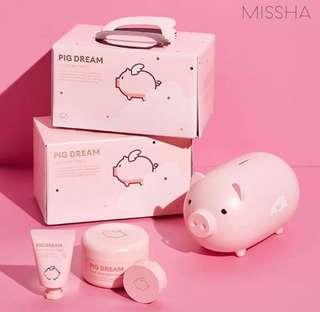 🇰🇷韓國代購🇰🇷MISSHA粉紅色豬仔化妝護膚套裝