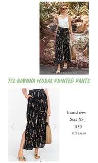 🚚 TCL RAYNNA FLORAL PRINTED PANTS