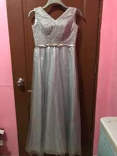 Silver/Gray Long Gown