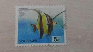 新加坡郵票-各款魚類