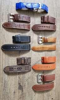 Genuine Leather Panerai 26mm Watch Strap