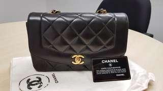 Authentic Chanel Vintage Diana flap 9 inch