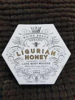 Body butter luxe body mousse Ligurian Honey 150ml Made in Aussie